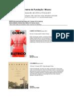 Semana 48 e 49 - Cinema Da Fundação - 30 a 06 de Novembro 2017 - Mostra Retrospectiva x Expectativa