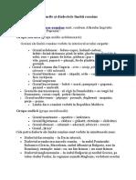 Graiurile Şi Dialectele Limbii Române