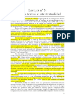 Lectura Nº 5 Polifonía Textual e Intertextualidad