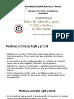 6 Probit y Logit Oordinal (1)
