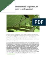 Conexión Paneles Solares