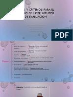 Fases y Criterios Para El Diseño de Instrumentos