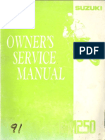 RM250 Owners Service Manual 1991