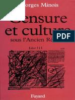MINOIS, Georges - Censure et culture sous l'Ancien Régime.epub