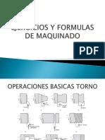 Ejercicios y Formulas de Maquinado