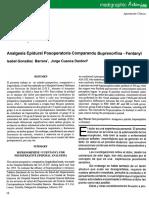 Analgesia Epidural Bupre-fenta