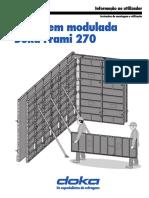 Ficha Técnica - Painél de Cofragem Doka Frami 270