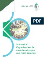 MANUAL de Organización de Usuarios de Riego