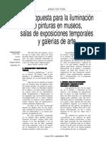 Una Propuesta Para La Iluminacion de Pinturas en Museos, Sal