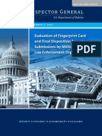 Evaluation of Fingerprint Card and Final Disposition Report Submissions by Military Service Law Enforcement Organizations