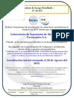 Alcance de Acreditacion de ensayo de laboratorio - LE-105 V03