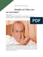 Si Algo Abunda en Cuba, Son Las Elecciones
