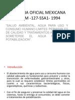 Norma Oficial Mexicana Nom 127 Ssa1 1994