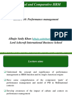 Lecture 10 - Performance Management