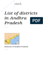 List of Districts in Andhra Pradesh