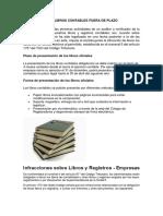 Legalización de Libros Contables Fuera de Plazo