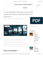 5 HR Analytics Questions Every HR Business Partner Should Know the Answer to - Digital HR Tech Blog
