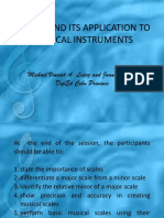 Scales and Its Application to Musical Instruments