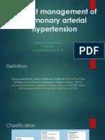 Current Management of Pulmonary Arterial Hypertension