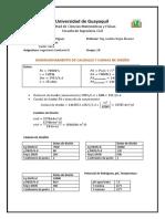 Ing. Sanitaria III Dimensionamiento de Caudales y Cargas de Diseño
