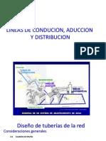 Clase 5 - Lineas de Conducion, Aduccion y Ditribucion
