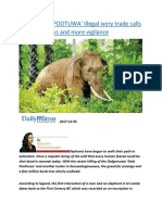 Fall of 'DALA POOTUWA' Illegal ivory trade calls for tighter laws and more vigilance.docx