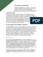 Características de La Banca de Inversión
