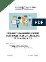 Presupuestos Compañías Resortes Industriales s
