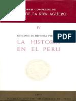 Estudios de Historia Peruana - La Historia en El Perú - Riva-Agüero - Parte 1