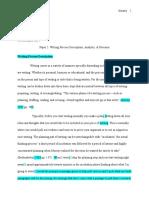 writing process paper portfolio draft