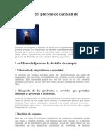 Las 5 Fases Del Proceso de Decisión de Compra