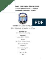 Monografía Etica Del Auditor