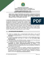 Edital Classificatorio 2018.1