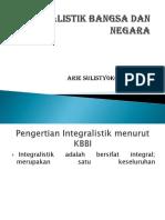 k. 8 Integralistik Bangsa Dan Negara