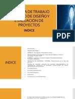 ESQUEMA DE TRABAJO DE CURSO DE DISEÑO Y EVALUACIÓN DE PROYECTOS.pptx