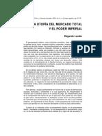 La Utopia Del Mercado Total
