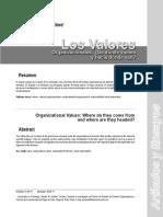Los Valores Organizacionales