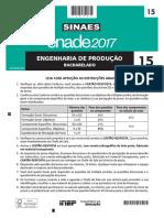 Prova Enade 2017 - Engenharia de Produção