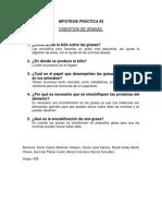 Hipótesis Práctica 3 - Grasas HETERÓTROFA
