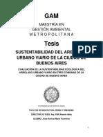 Tesis Sustentabilidad Del Arbolado Urbano en 4 comunas de la Ciudad Autónoma de Buenos Aires