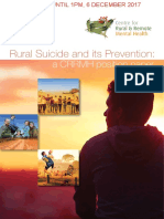 Rural Suicide and its Prevention