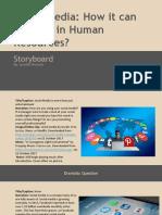 storyboard template  1 - social media in hr