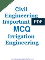Civil Engineering Important 138 MCQs Irrigation Engineering