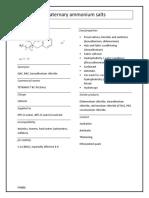 STA001 - Quaternary Ammonium Salts