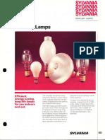 Sylvania Mercury Lamp Brochure 1979