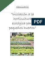Agricultura - Horticultura ecológica para pequeños huertos (C)