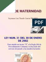 LEYES DE MATERNIDAD