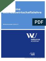 Skriptum - Einführung in Die Betriebswirtschaftslehre - Executive Academy