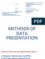 000 Methods of Presentation of Data - Textual and Fdt