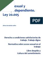 Acoso Sexual y Trabajo Dependiente Ley 20.005